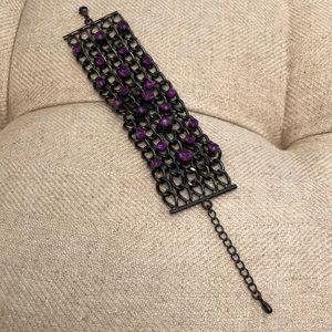 Jewelry - FREE W PURCHASE Black and Purple Bracelet